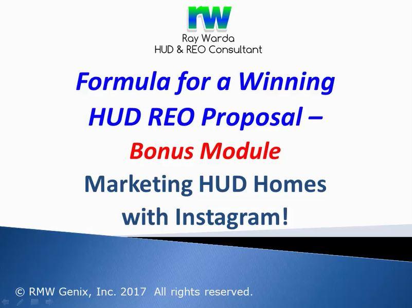 Marketing HUD Homes - Instagram